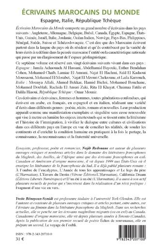 4eme Écrivains marocains du monde