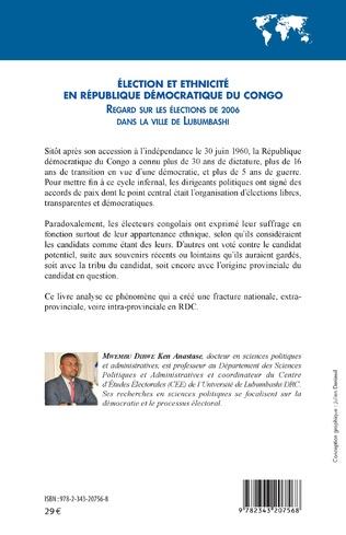4eme Élection et ethnicité en République démocratique du Congo