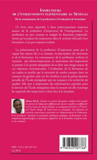 4eme Inspecteurs de l'enseignement élémentaire au Sénégal