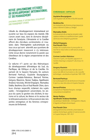 4eme Revue amazonienne d'études du développement international et du management