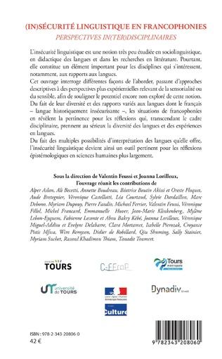 4eme (In)sécurité linguistique en francophonies