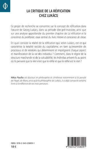 4eme La critique de la réification chez Lukacs