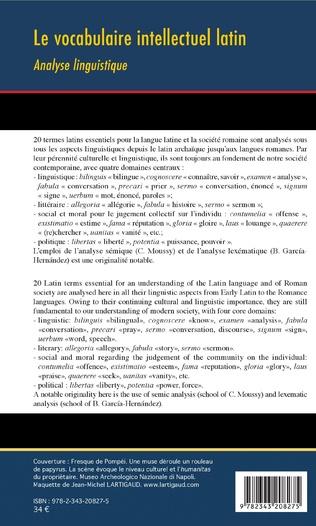 4eme Le vocabulaire intellectuel latin
