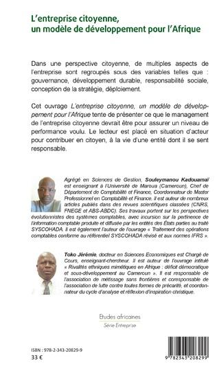 4eme L'entreprise citoyenne, un modèle de développement pour l'Afrique