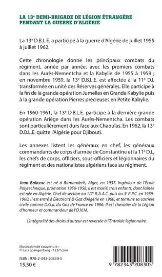 4eme La 13e demi-brigade de la Légion étrangère pendant la guerre d'Algérie