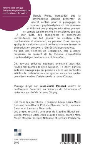 4eme Histoire de la clinique d'orientation psychanalytique en éducation et formation