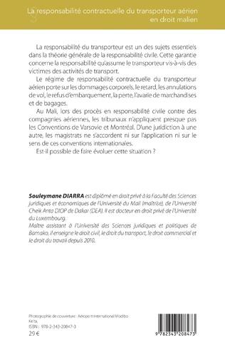 4eme La responsabilité contractuelle du transporteur aérien en droit malien