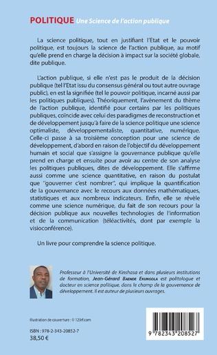 4eme Politique. Une Science de l'action publique