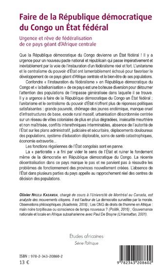4eme Faire de la République démocratique du Congo un État fédéral