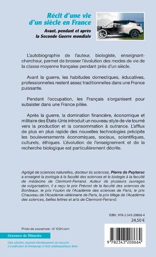 4eme Récit d'une vie d'un siècle en France