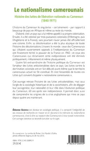4eme Le nationalisme camerounais