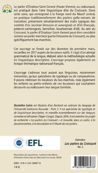 4eme Le parler marchois d'Oradour-Saint-Genest