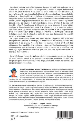 4eme La réforme du droit des obligations en RD Congo