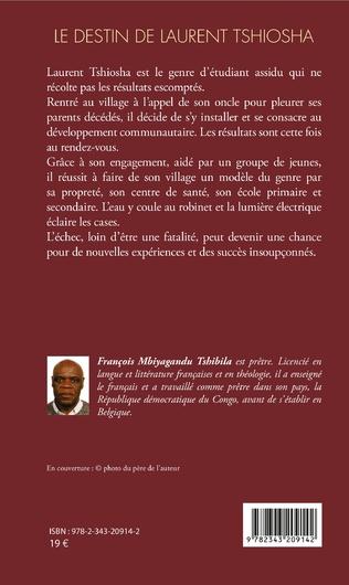 4eme Le destin de Laurent Tshiosha. Roman