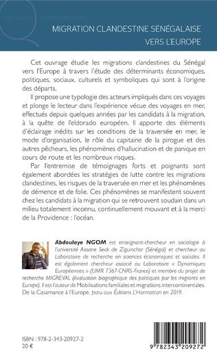 4eme Migration clandestine sénégalaise vers l'Europe