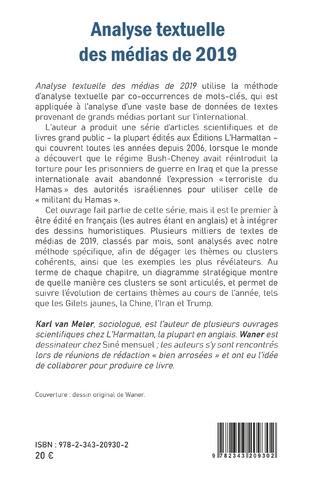 4eme Analyse textuelle des médias de 2019