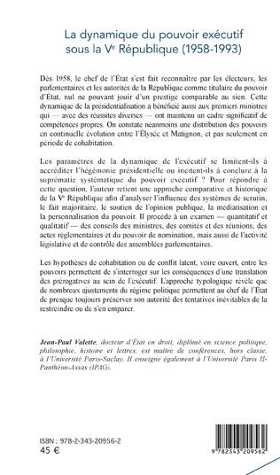 4eme La dynamique du pouvoir exécutif sous la Ve République
