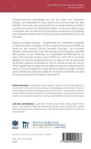 4eme Les aides économiques locales : de quel droit ?