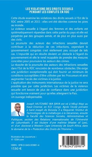 4eme Les violations des droits sexuels pendant les conflits en RDC