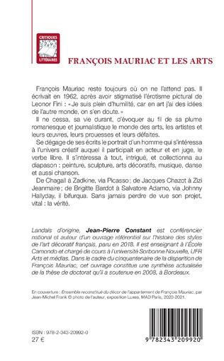 4eme François Mauriac et les arts