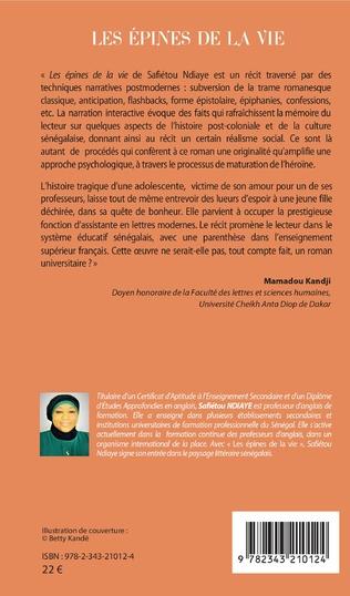 4eme Les épines de la vie. Roman