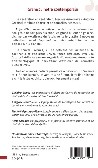 4eme Gramsci, notre contemporain