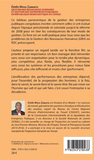 4eme Gestion des ressources humaines et gestion des entreprises publiques en République démocratique du Congo