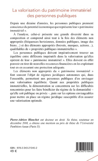4eme La valorisation du patrimoine immatériel des personnes publiques