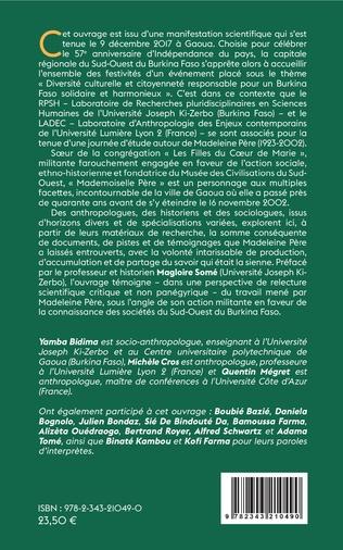 4eme Militance. Pour la connaissance des sociétés du Sud-Ouest du Burkina Faso