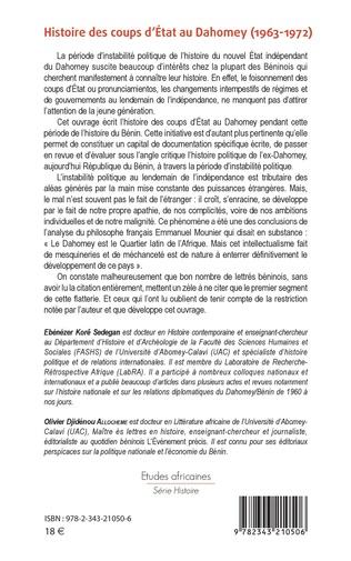 4eme Histoire des coups d'État au Dahomey (1963-1972)