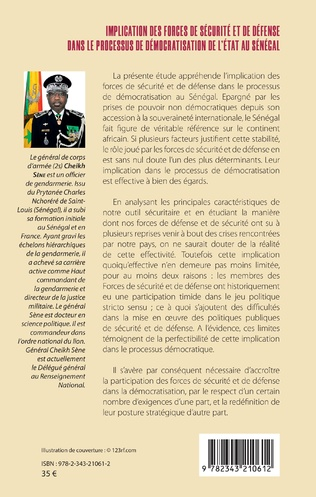 4eme Implication des forces de sécurité et de défense dans le processus de démocratisation de l'Etat au Sénégal