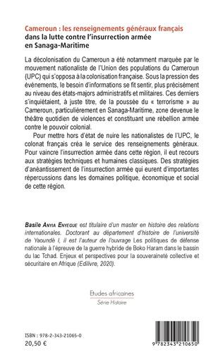 4eme Cameroun : les renseignements généraux français dans la lutte contre l'insurrection armée en Sanaga-Maritime