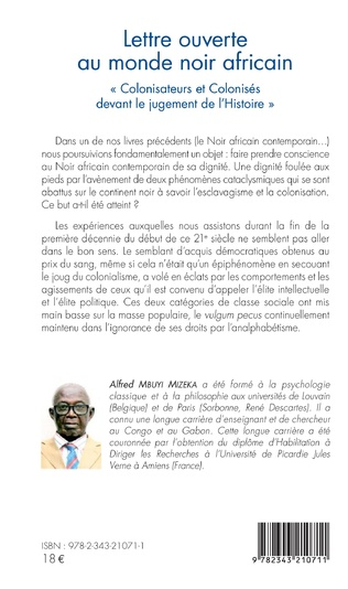 4eme Lettre ouverte au monde noir africain