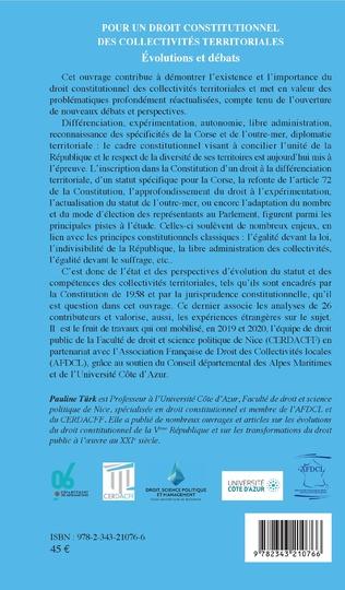 4eme Pour un droit constitutionnel des collectivités territoriales