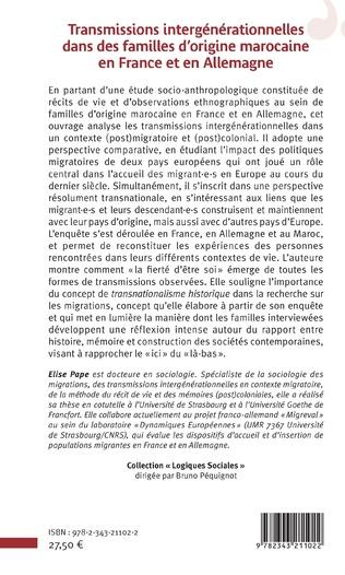 4eme Transmissions intergénérationnelles dans des familles d'origine marocaine en France et en Allemagne