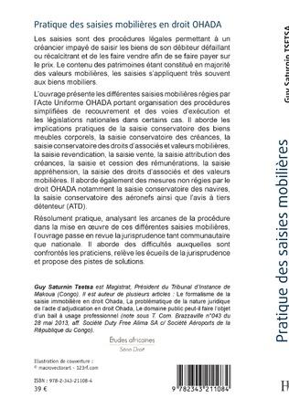 4eme Pratique des saisies mobilières en droit OHADA
