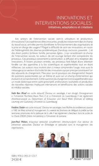 4eme Innovations et interventions sociales : Iinitiatives, adaptations et créations