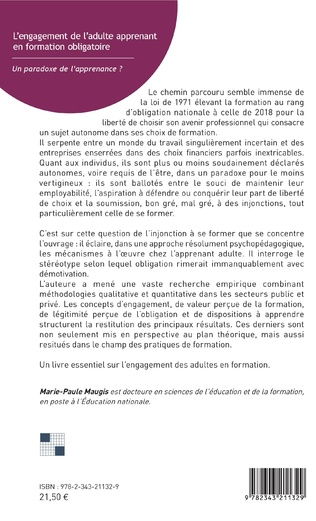 4eme L'engagement de l'adulte apprenant en formation obligatoire