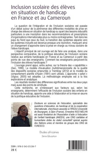 4eme Inclusion scolaire des élèves en situation de handicap en France et au Cameroun