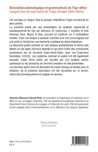 4eme Description phonologique et grammaticale de l'igo-ahlon