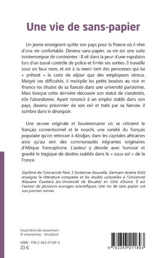 4eme Une vie de sans-papier. Roman