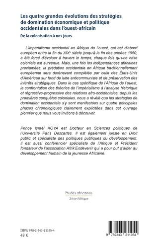 4eme Les quatre grandes évolutions des stratégies de domination économique et politique occidentales dans l'ouest-africain