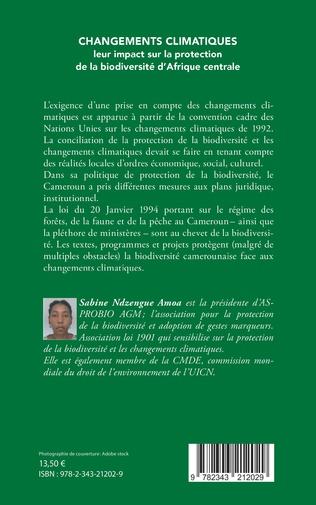 4eme Changements climatiques : leur impact sur la protection de la biodiversité d'Afrique centrale