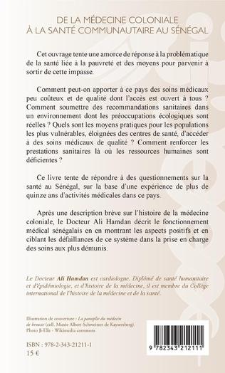 4eme De la médecine coloniale à la santé communautaire au Sénégal