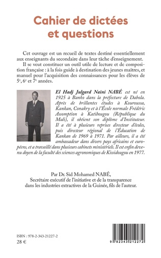 4eme Cahier de dictées et questions