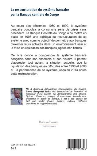 4eme La restructuration du système bancaire par la Banque centrale du Congo