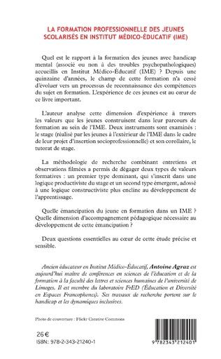 4eme La formation professionnelle des jeunes scolarisés en istitut médico-éducatif (IME)