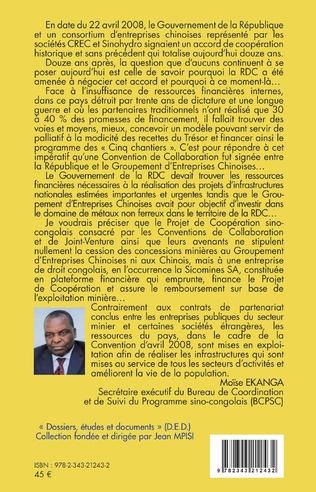 4eme Le programme sino-congolais pour le développement des infrastructures en RDC