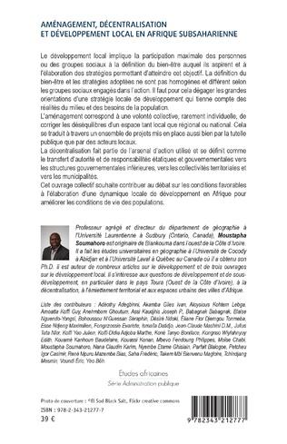 4eme Aménagement, décentralisation et développement local en Afrique subsaharienne