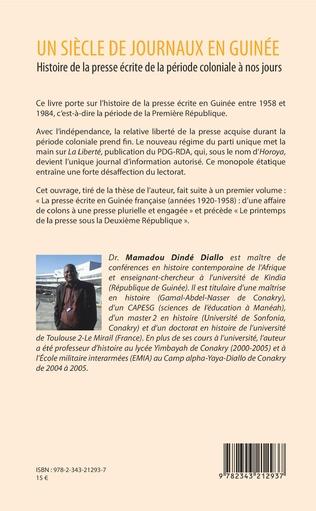 4eme Un siècle de journaux en Guinée. Histoire de la presse écrite de la période coloniale à nos jours Tome 2